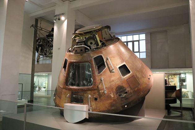 アポロ宇宙船。アメリカとの関係の深さがうかがわれます