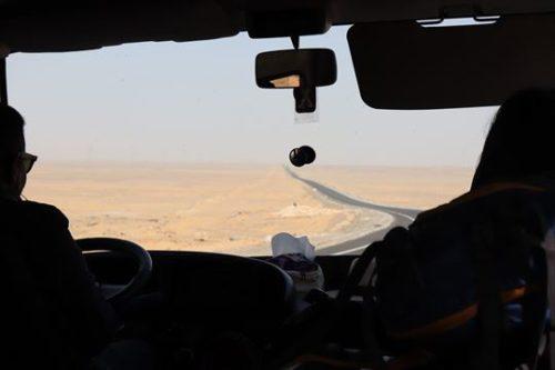 帰りも砂漠です。当たり前ですけど