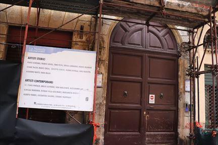 この扉の奥に小道があってブラッドレーのアパートに行けるはずなのですが