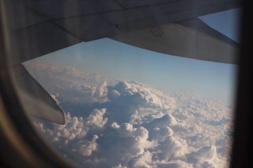 雲を見ているだけで幸せな気分になります