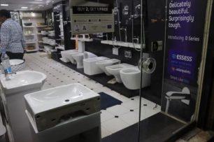 衛生陶器の専門店街