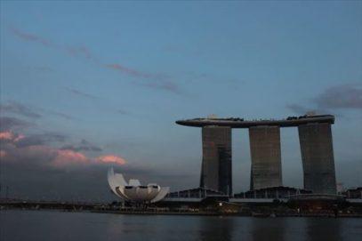 最近はマリーナ・ベイ・サンズもシンガポールのシンボルかも