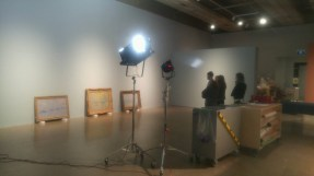 Behind the scenes placing Monet paintings, including McMaster's, at the AGO.