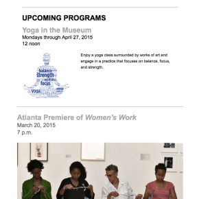 March 2015 Newsletter II (Programs)