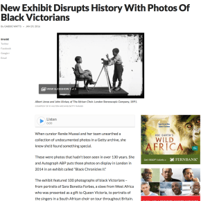 Review: New Exhibit Disrupts History With Photos Of Black Victorians