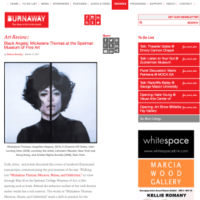 BURNAWAY Review: Black Angels: Mickalene Thomas at the Spelman Museum of Fine Art