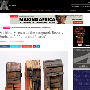 "ArtsATL Review: Art history rewards the vanguard: Beverly Buchanan's ""Ruins and Rituals"""