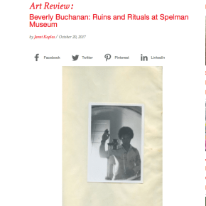 Burnaway Review: Beverly Buchanan: Ruins and Rituals at Spelman Museum