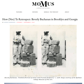 Momus Review: How (Not) To Retrospect: Beverly Buchanan in Brooklyn and Georgia