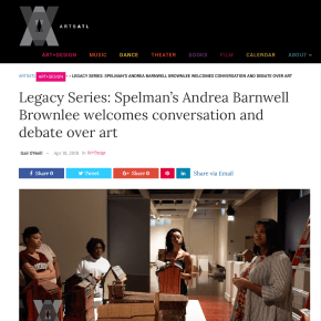 ArtsAtl Review: Legacy Series: Spelman's Andrea Barnwell Brownlee welcomes conversation and debate over art
