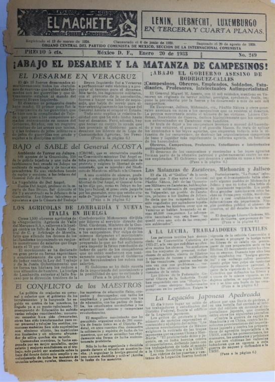 EL MACHETE 1933