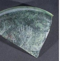 Fragment of glass cup