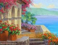 Flower Garden Oil Painting 008