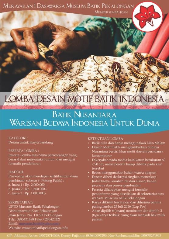 Poster Lomba Desain Motif Batik1