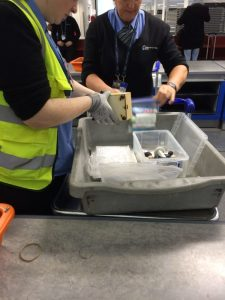 Stansted Security inspect Museum in a Box