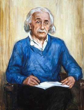 Portrait of Albert Einstein by Max Westfield