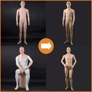 Herren Museumsfiguren + Kopf