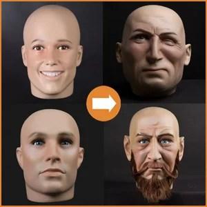 Realistic male heads