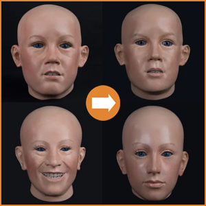 Extra realistic childrens heads
