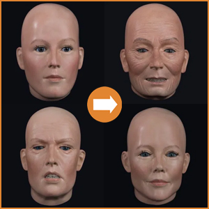 Extra realistic female heads