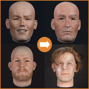 Extra realistic male heads
