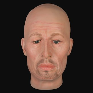 Realistic airbrushed male mannequin head