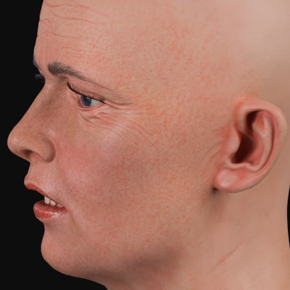 Realistic womens head | Airbrushed