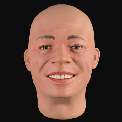 Lifelike male mannequin head | Airbrushed