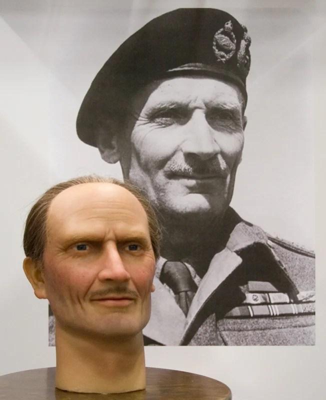 Field Marshal Bernard Law Montgomery look a like display head