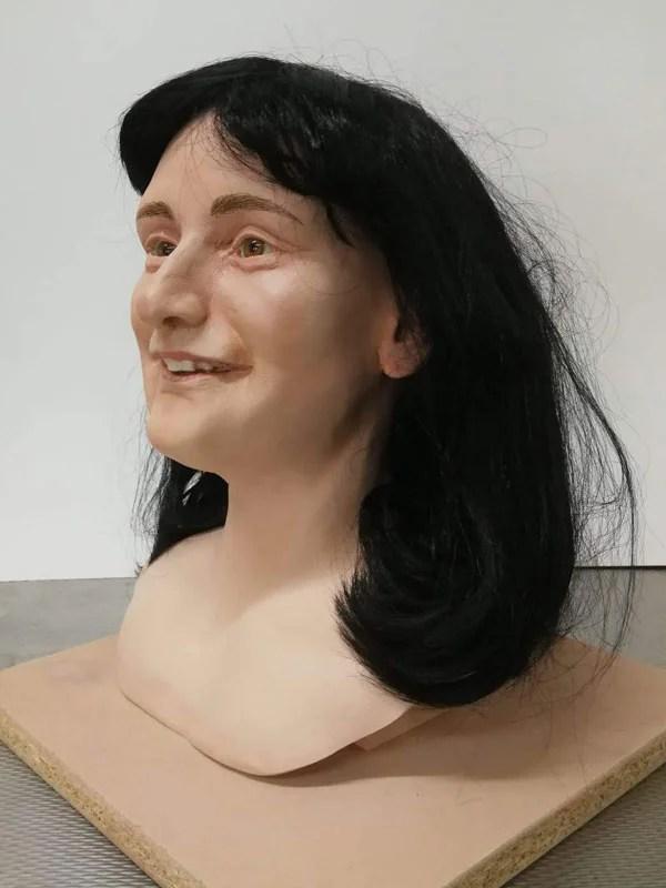 Anne Frank look-alike display mannequin