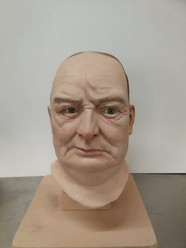 Winston Churchill look-alike fibreglass mannequin head