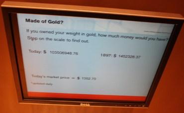 Klondike Gold Rush Gold Weight Interactive