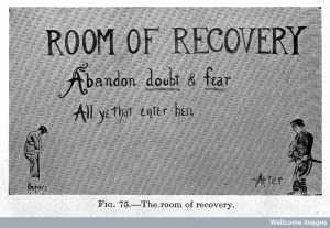 """L0023551 """"Room of recovery"""", war neurosis. Credit: Wellcome Library, London. Wellcome Images"""