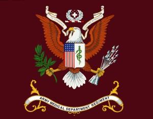 """AMEDD Regimental Flag"" by United States Army - U.S. Army Medical Department Regiment Office. Licensed under Public domain via Wikimedia Commons - http://commons.wikimedia.org/wiki/File:AMEDD_Regimental_Flag.jpg"