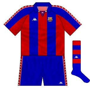 1993-94 Barcelona European home kit