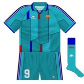 1995-97 Barcelona European away kit