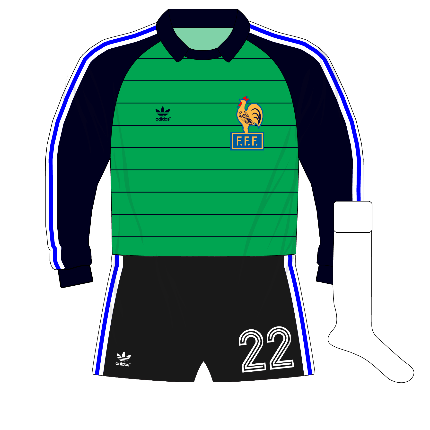 adidas-France-green-goalkeeper-shirt-jersey-1982-Ettori