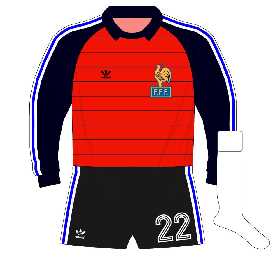 official photos 3febd 82c05 adidas-France-red-goalkeeper-gardien-maillot-shirt-jersey ...