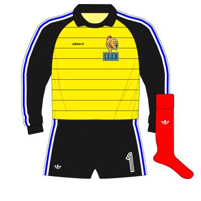 adidas-France-yellow-goalkeeper-gardien-maillot-jersey-1984-Bats