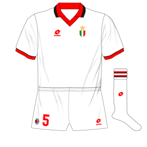 AC-Milan-1993-1994-white-Champions-League-away-kit-shirt-Lotto-Barcelona