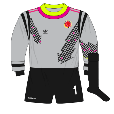 adidas-Colombia-grey-goalkeeper-shirt-camiseta-Italia-1990-Higuita