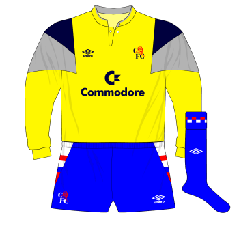 Chelsea-Umbro-1988-1991-yellow-goalkeeper-shirt-Dave-Beasant