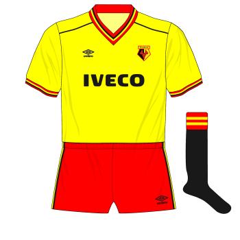 1983-1985-Watford-Umbro-home-kit-black-socks-Manchester-United