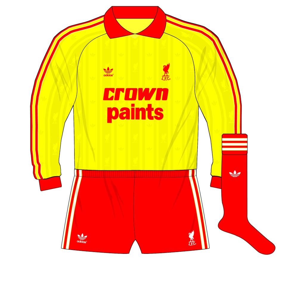 info for f23ff b42a5 adidas-Liverpool-goalkeeper-shirt-yellow-jersey-1985-1986 ...