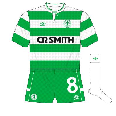 Celtic-Umbro-1988-1989-home-kit-shirt-centenary-crest-green-shorts-white-socks