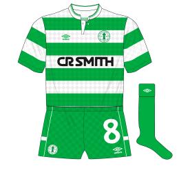 Celtic-Umbro-1988-1989-home-kit-shirt-centenary-crest-green-socks-shorts
