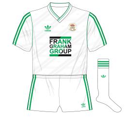 Hibernian-adidas-1987-1989-away-kit-shirt-Frank-Graham-Group-white-shorts-socks