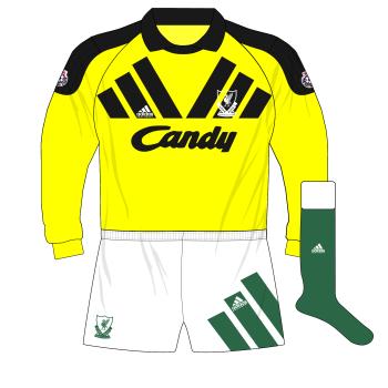 Liverpool-1991-1992-away-goalkeeper-shirt-yellow-adidas-Equipment