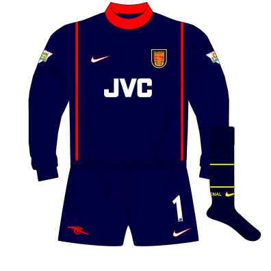 low priced 5bb9b 0b534 Seven seasons where Arsenal's goalkeepers wore four ...
