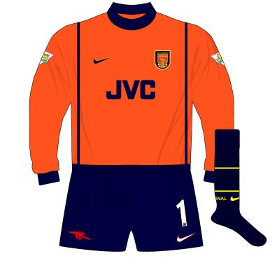 Arsenal-Nike-1998-1999-orange-goalkeeper-shirt-kit-01